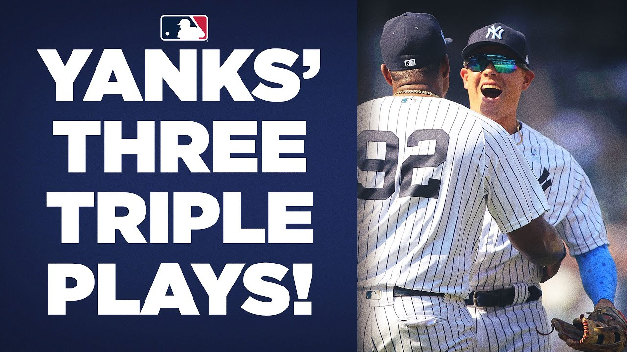 THREE TRIPLE PLAYS! Yankees ALREADY have 3 triple plays in 2021!