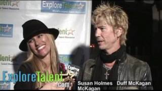 Guns N Roses Bassist Duff McKagan Velvet Revolver Loaded Supermodel Susan Holmes