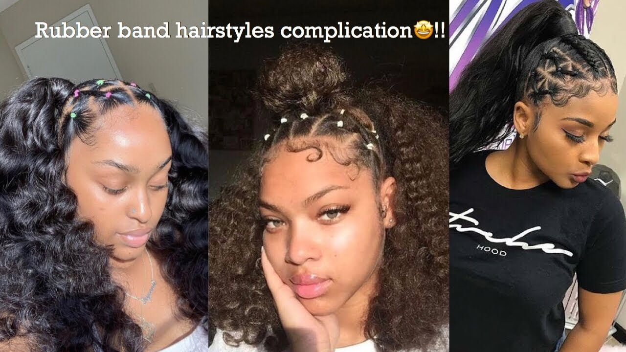 Rubberband Hairstyles Compilation Pt 1 Youtube