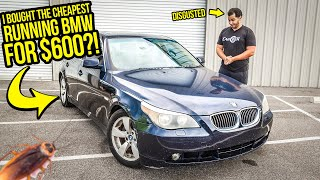 I Bought A Running BMW For $600 (Because It's FULL OF ROACHES)