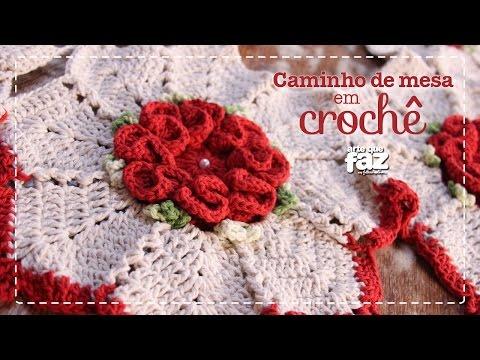 DIY - Caminho de mesa em Crochê (Diane Gonçalves)