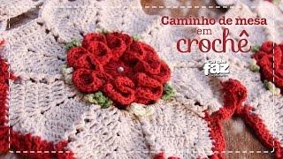 Caminho de mesa em Crochê – Por Diane Gonçalves