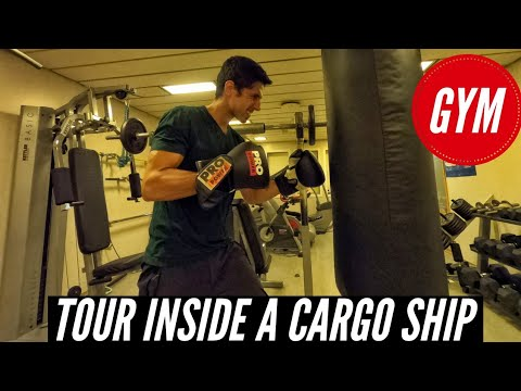 Tour INSIDE A Cargo Ship   10000+ Movies , GYM & More