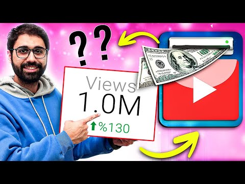 How much Money YouTube Paid Me for 1 Million Views! [ You Can Do It ]