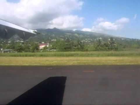 Landing at faaa airport- Tahiti french polynesia