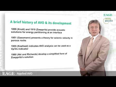 EAGE E-Lecture: Applied AVO by Anthony Fogg
