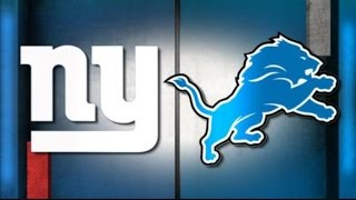 Detroit Lions Vs New York Giants Preview (Defence Needs To Show Up Again)