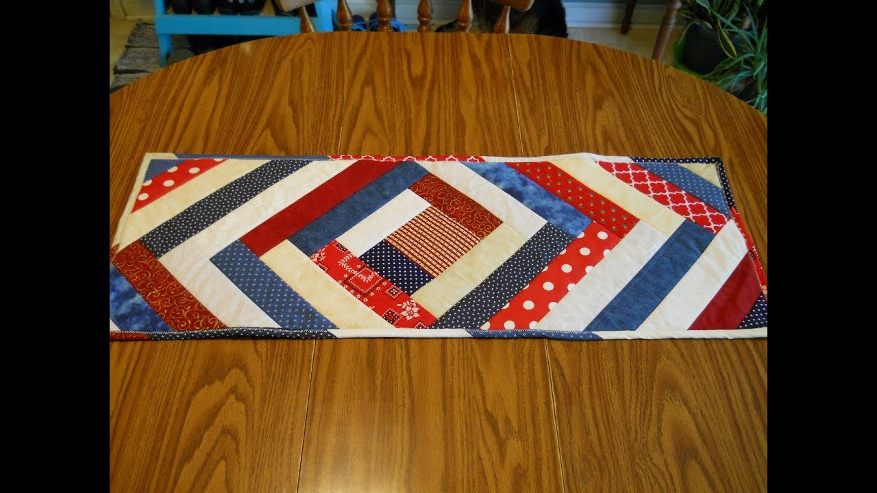 Quilt As You Go Patriotic Table Runner Youtube