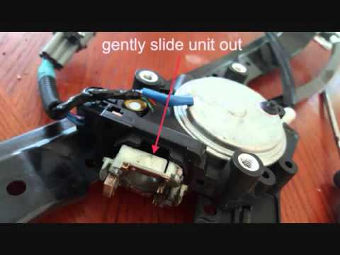 Nissan power window motor repair youtube for Electric window motor repair