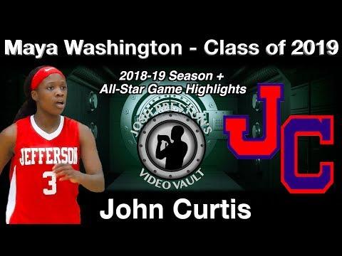 Maya Washington (John Curtis 2019 G/Louisiana College Signee) - Senior Highlights thumbnail