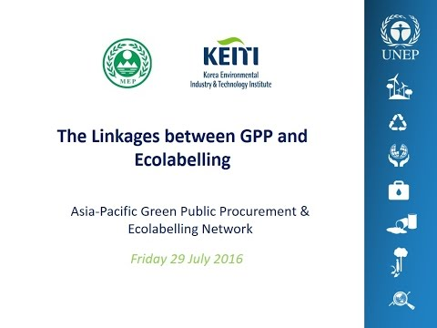 Webinar: The linkages between Green Public Procurement and Ecolabelling