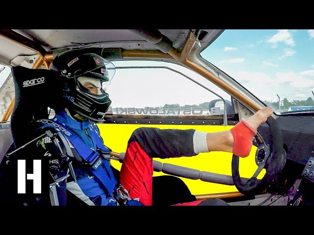 Mind Blowing Feet-Only Drifting in a R34 Skyline!