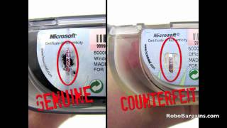 Guide to buying genuine Microsoft Windows/Office software (A lesson in spotting counterfeit)