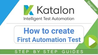 How to create First Automation Test