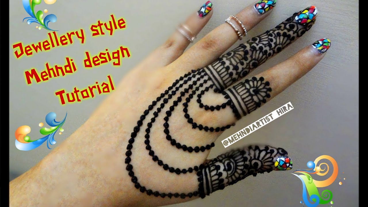 A To Z Mehndi Designs : Beautiful new stylish jewellery style henna mehndi designs for hands