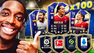 WE FINALLY PACKED A TOTY! 100 X UPGRADE PACKS! THEY CAN'T STOP THE SHINE!!!