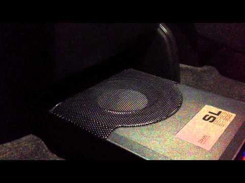 "Alpine 8"" Amplified Box under seat Enclosure CES 2014"