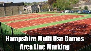 Hampshire Multi Use Games Area Line Marking
