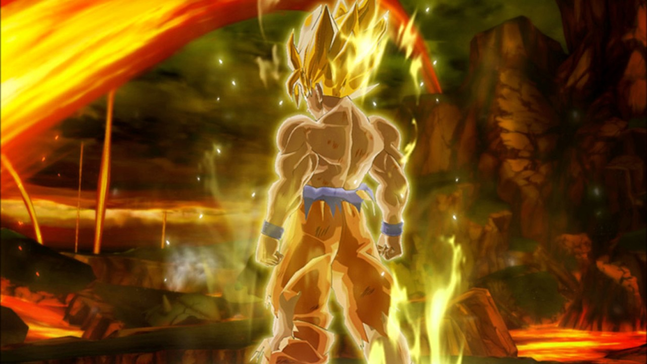 Dragonball z burst limit goku super saiyan theme - 3d wallpaper of dragon ball z ...