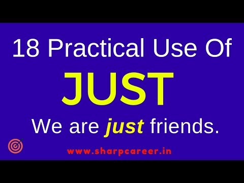 Learn 18 Practical  Use of Just | English सीखने का सही तरीका | Learn English through Hindi