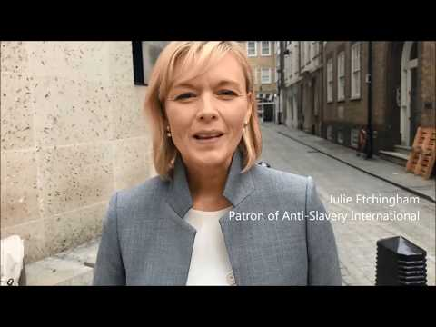 Patron Julie Etchingham on why she supports Anti-Slavery Int