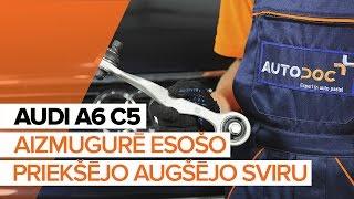kreisais un labais Svira montāža AUDI A6: video pamācības