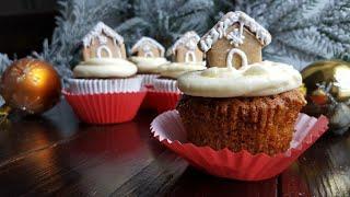 Новогодние КАПКЕЙКИ с имбирем и корицей🌲ПРОСТОЙ РЕЦЕПТ🌲Honey cupcake