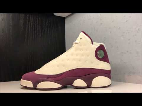 nueva selección minorista online mejor mayorista Air Jordan 13 XIII Bordeaux 'Maroon' Retro Sneaker Review - YouTube