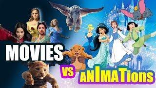 DISNEY MOVIES vs DISNEY ANIMATION MOVIES/FILME DISNEY VS DESENE ANIMATE DISNEY