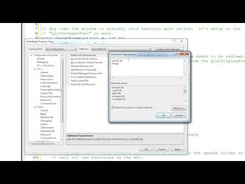 Tutorial 1 - Setting up an OpenGL Project in Visual Studio 2010