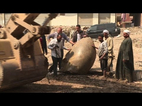 Parts of buried Ramses II temple, statue discovered near Cairo