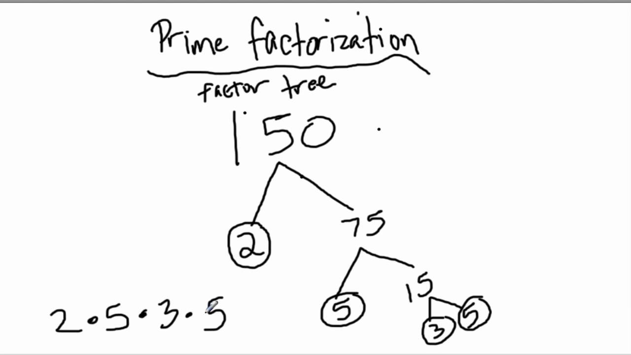 worksheet Factorization prime factorization n10 youtube n10