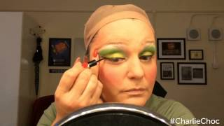 Jasna Ivir applies her Mrs Gloop make-up