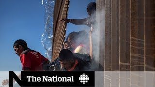 Tear gas fired at migrants approaching U.S.-Mexico border