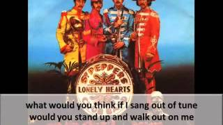 The Beatles-Sgt Pepper's Lonely Hearts Club Band01(Sgt Pepper's Lonely Hearts Club Band Album)Lyrics