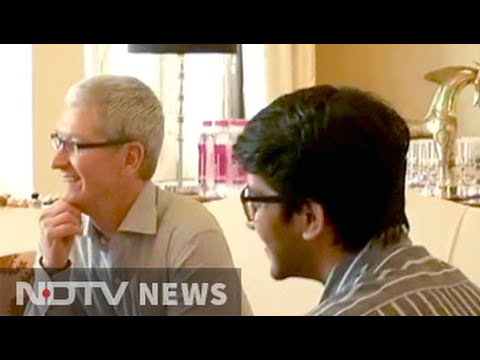 Apple CEO Tim Cook meets app developers in Mumbai