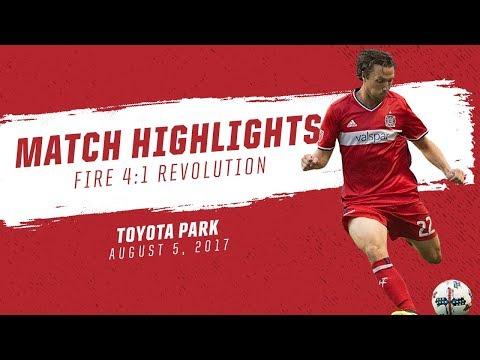Match Highlights | Chicago Fire 4:1 New England Revolution | August 5, 2017