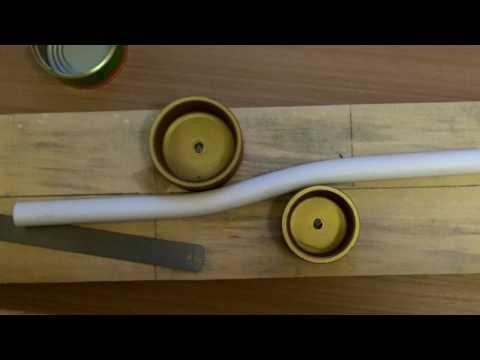 Как согнуть пластиковую трубу в домашних условиях видео