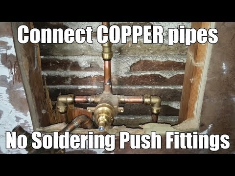 Connect COPPER pipes  NO SOLDERING  SYMMONS Shower Valve