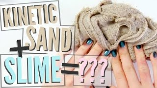 MIXING KINETIC SAND AND SLIME?!!! SO SATISFYING | Angelynn