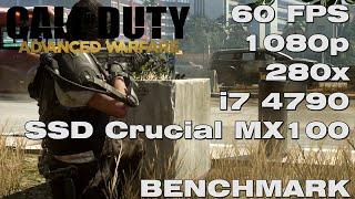 Call of Duty: Advanced Warfare 60FPS - PC Gameplay / Benchmark - Core i7 4790 / R9 280X - Maxed