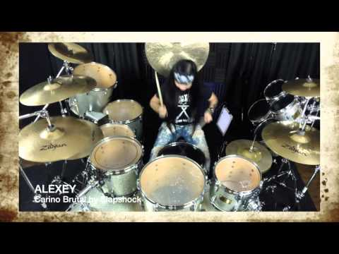 Slapshock- Cariño Brutal- Drum cover by 12 year old ALEXEY