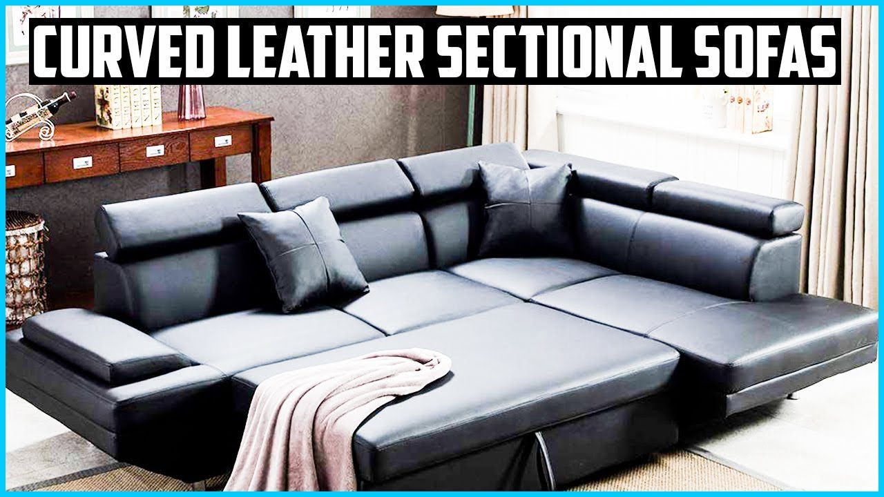 Best Curved Leather Sectional Sofas, Faux Leather Curved Sectional Sofa