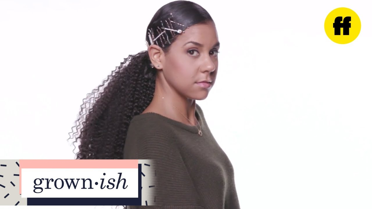 Grown Ish Hair Tutorials Curly Poofy Ponytail Freeform Youtube