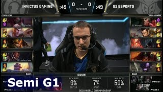 IG vs G2 Game 1 | Semi Final S8 LoL Worlds 2018 | Invictus Gaming vs G2 eSports G1