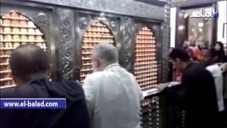 بالفيديو والصور.. فتح ضريح الحسين بعد 3 أيام من إغلاقه