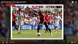 Tin Thể Thao 24h Hôm Nay (7h - 20/8): Lukaku Lại Khai Hỏa Giúp Man Utd  Vùi Dập Swansea