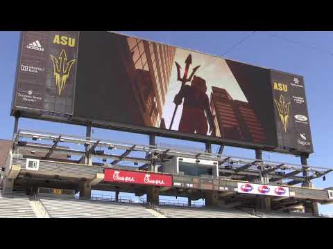New Sun Devil Stadium video board preview 08/28/2017