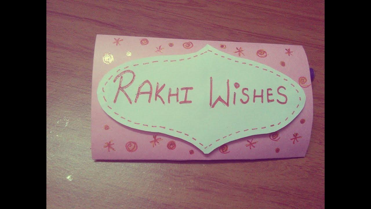 Card Making Ideas For Raksha Bandhan Part - 29: DIY: Rakhi Card   Raksha Bandhan Hand Made Card 2015   Omnistyles - YouTube