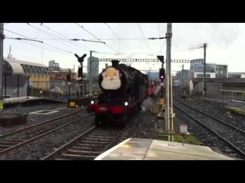 Santa Train arrives at Westland Row, Dublin.